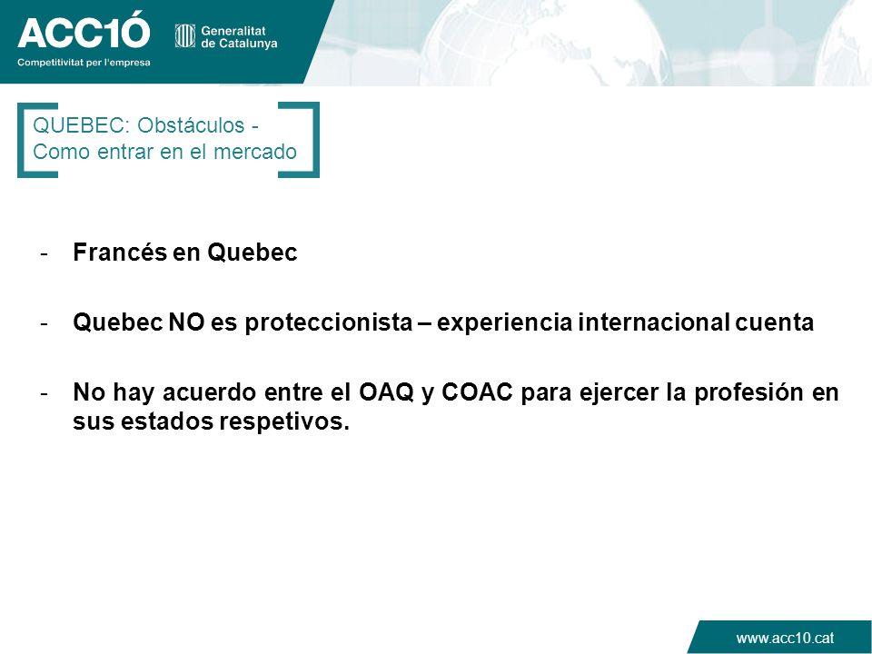 Quebec NO es proteccionista – experiencia internacional cuenta