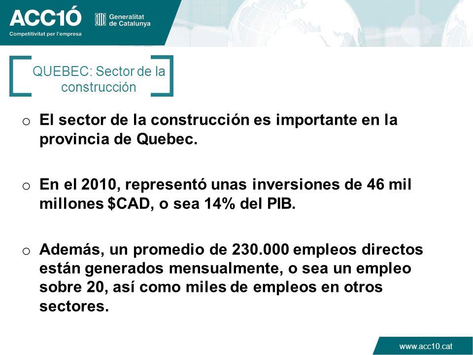 QUEBEC: Sector de la construcción