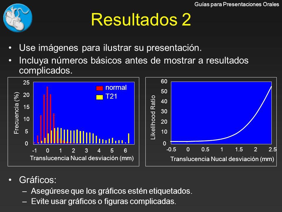 Resultados 2 Use imágenes para ilustrar su presentación.