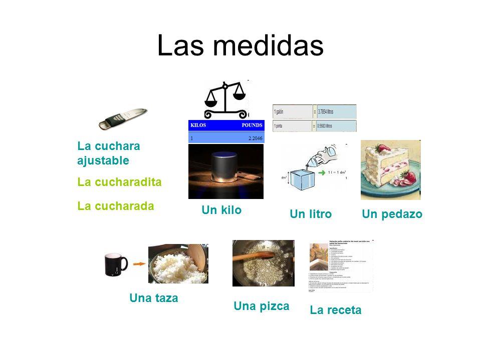 Vocabulario preparar una receta ppt descargar for Medidas para cocinar