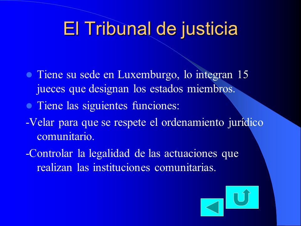 El Tribunal de justicia