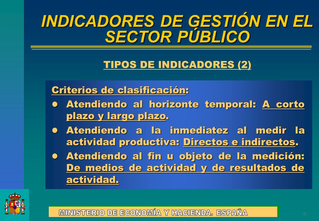 INDICADORES DE GESTIÓN EN EL SECTOR PÚBLICO
