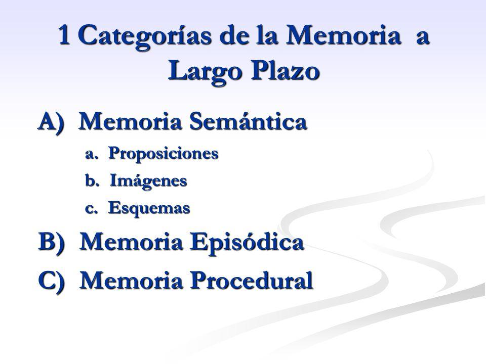 1 Categorías de la Memoria a Largo Plazo
