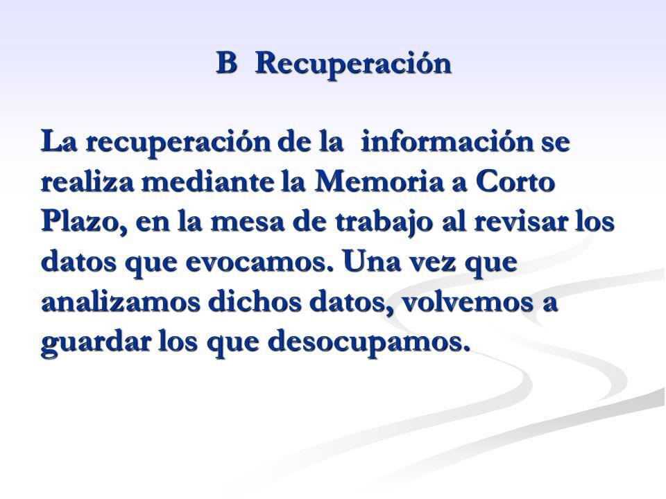 B Recuperación