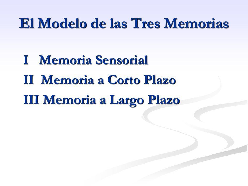 El Modelo de las Tres Memorias