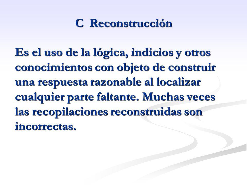 C Reconstrucción