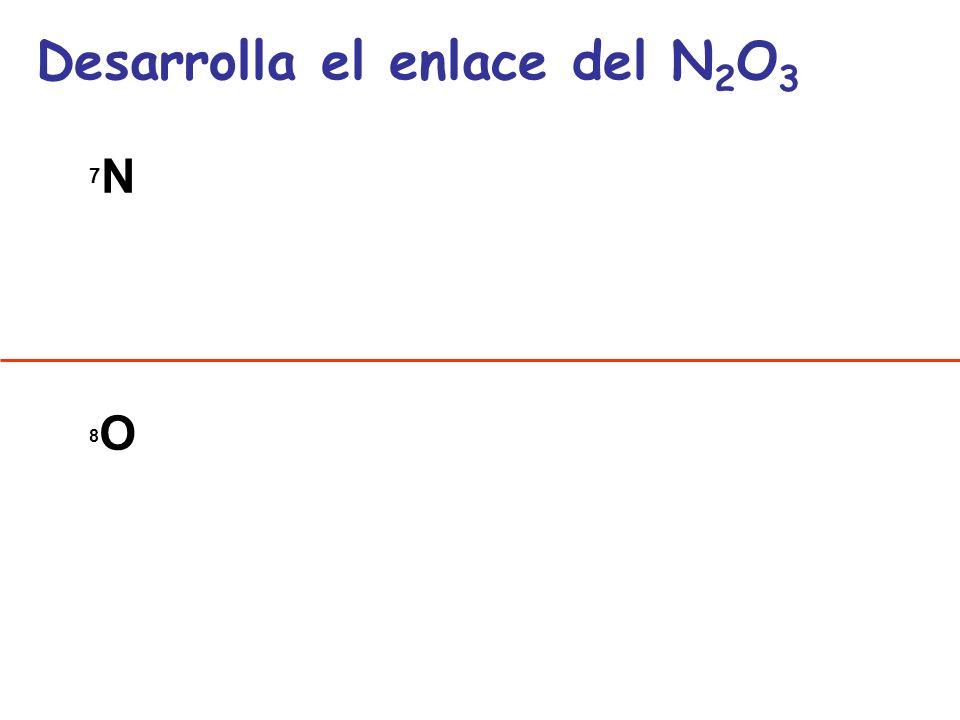 Desarrolla el enlace del N2O3