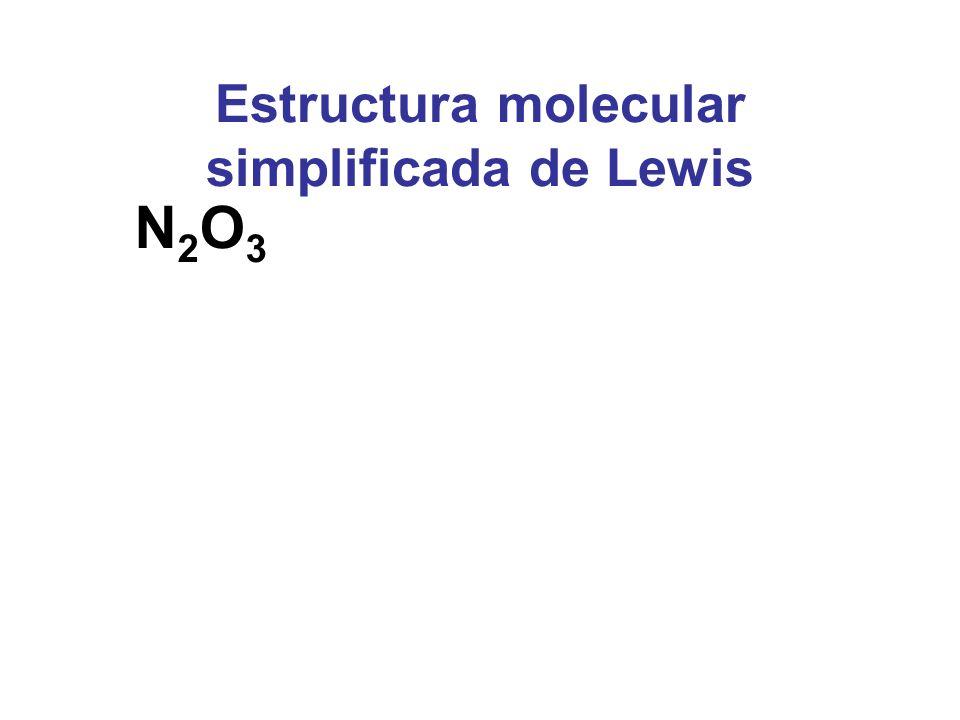 Estructura molecular simplificada de Lewis