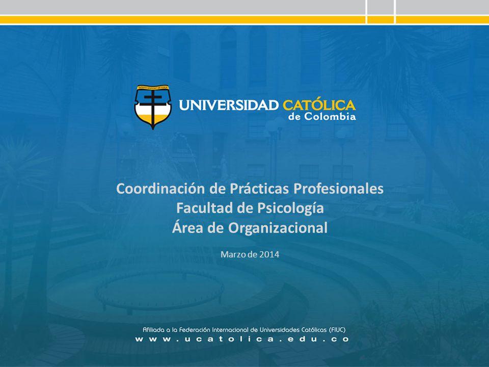 Coordinación de Prácticas Profesionales Facultad de Psicología