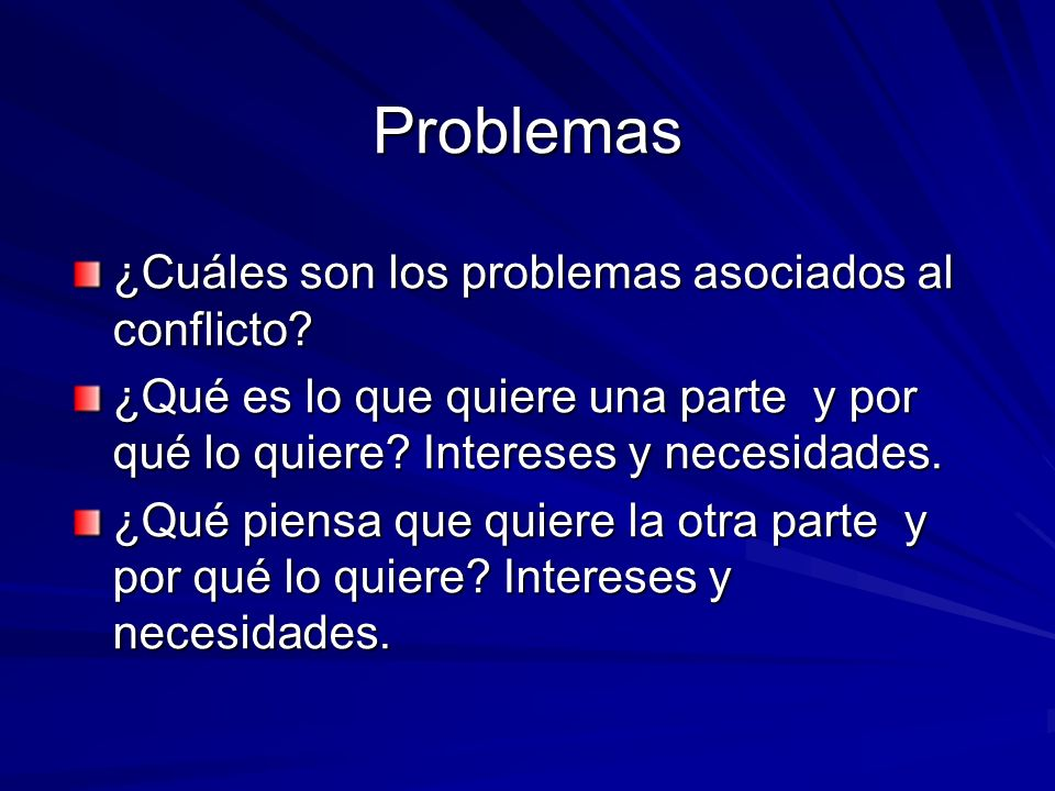 Problemas ¿Cuáles son los problemas asociados al conflicto