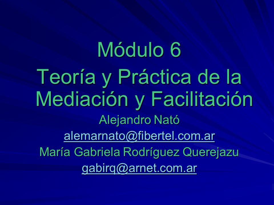 Teoría y Práctica de la Mediación y Facilitación