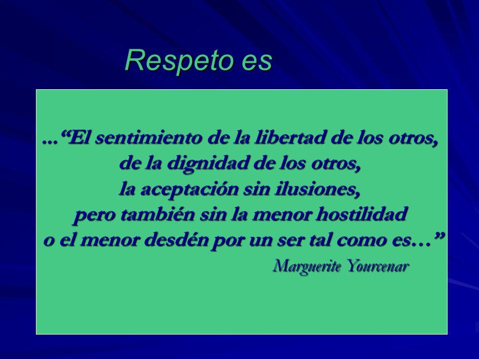 Respeto es ... El sentimiento de la libertad de los otros,