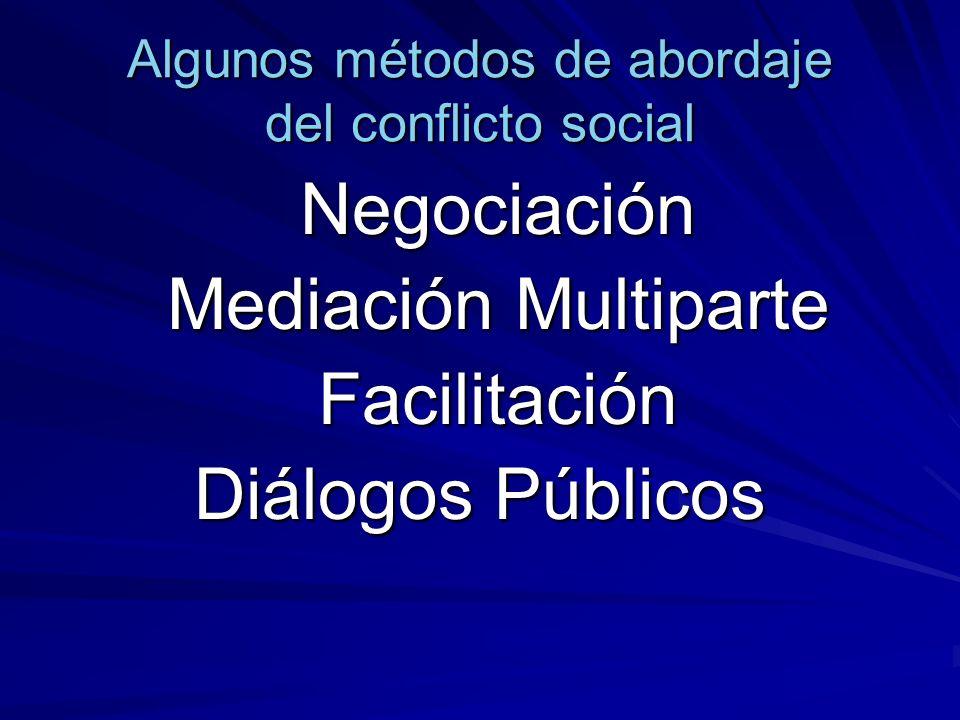 Algunos métodos de abordaje del conflicto social