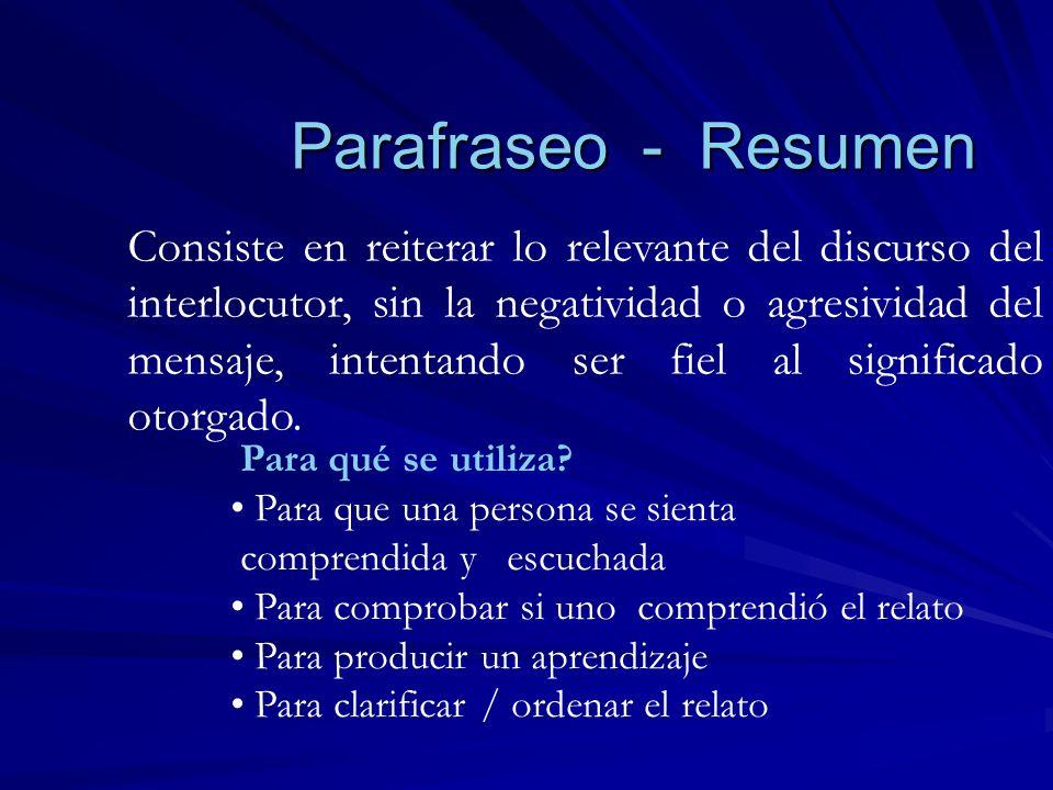 Parafraseo - Resumen