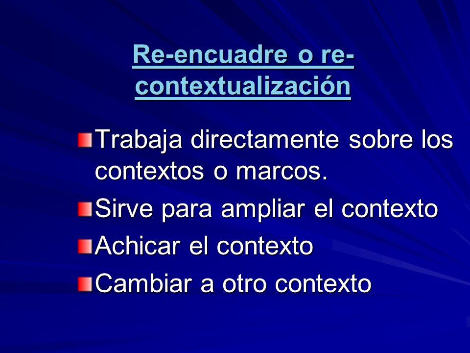 Re-encuadre o re-contextualización