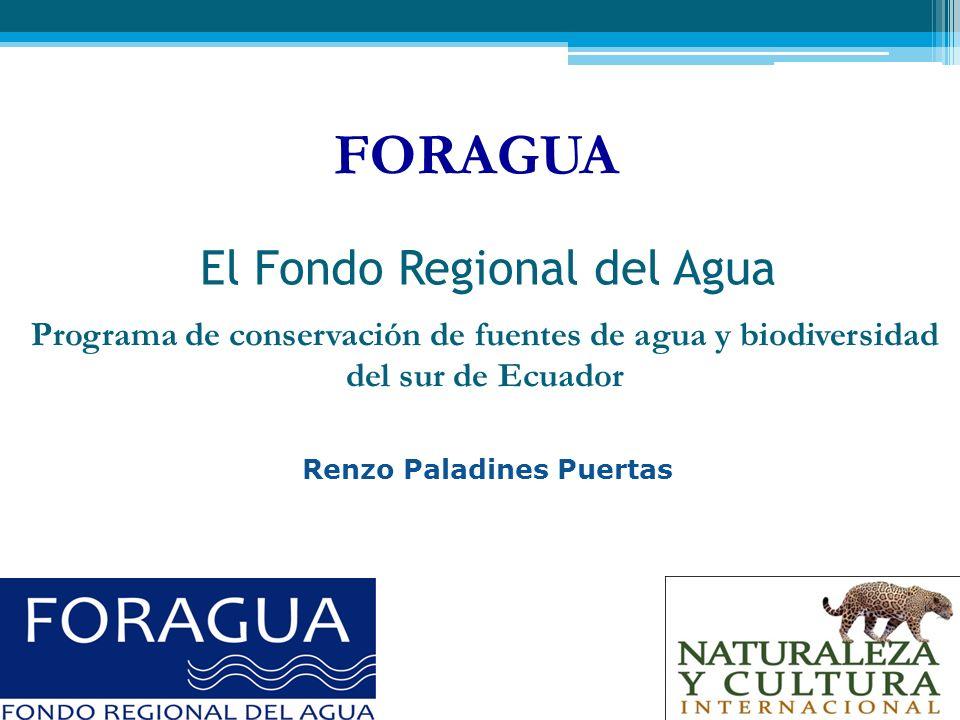El Fondo Regional del Agua