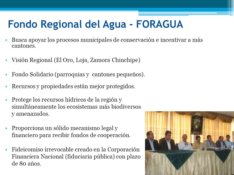 Fondo Regional del Agua - FORAGUA