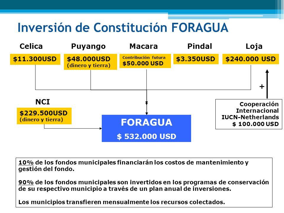 Inversión de Constitución FORAGUA