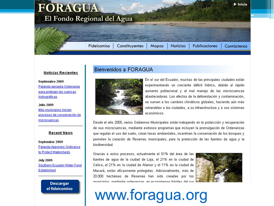 www.foragua.org