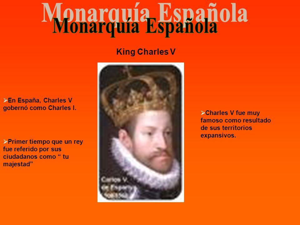 Monarquía Española King Charles V