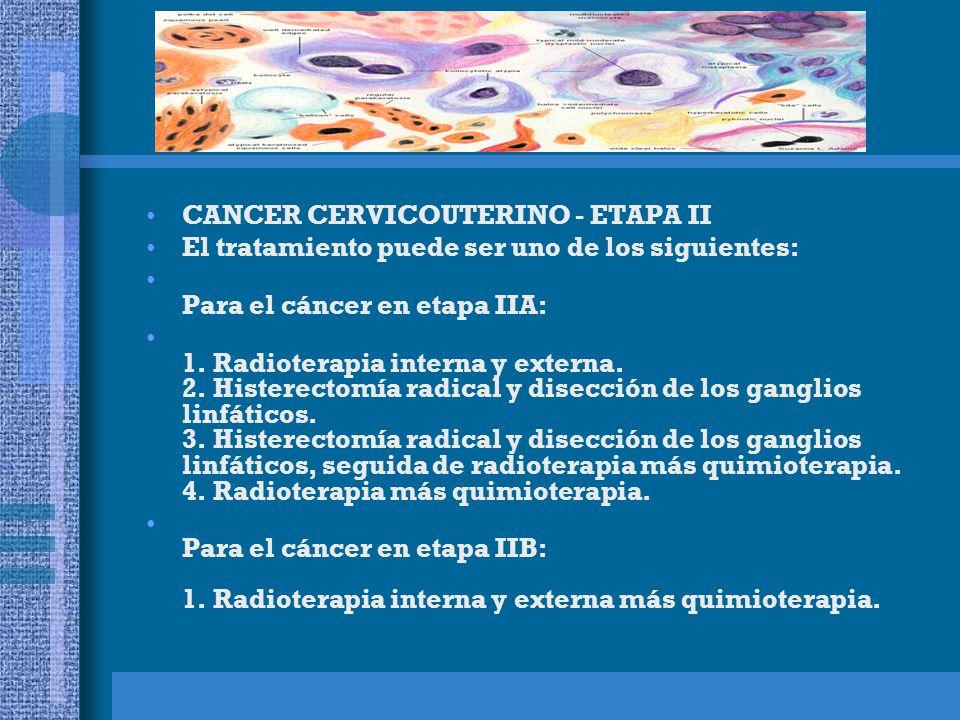 CANCER CERVICOUTERINO - ETAPA II