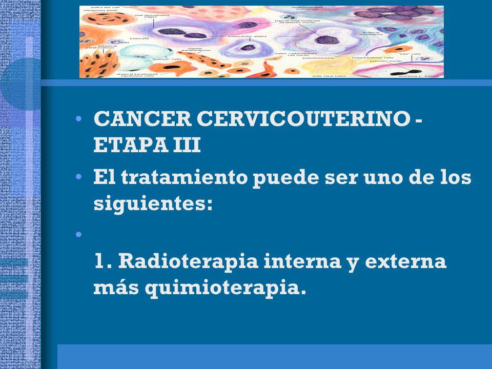 CANCER CERVICOUTERINO - ETAPA III