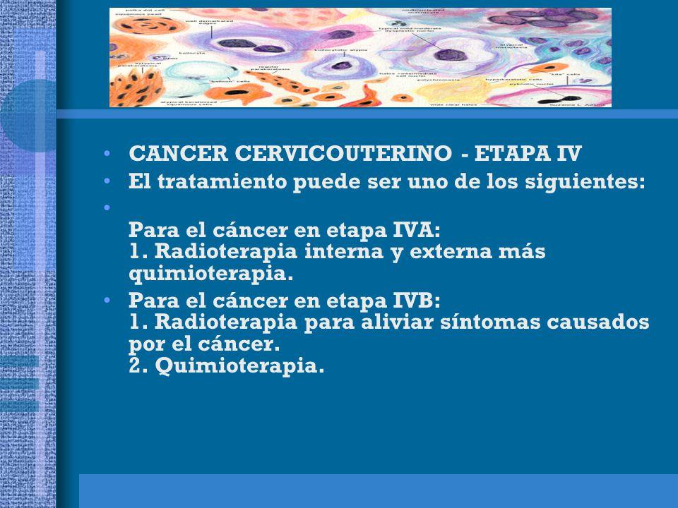 CANCER CERVICOUTERINO - ETAPA IV