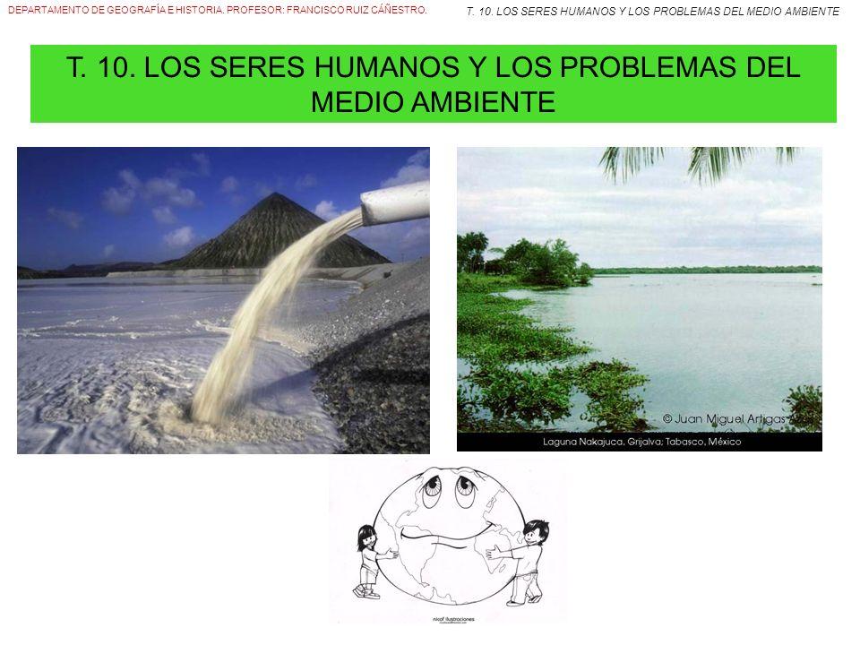T. 10. LOS SERES HUMANOS Y LOS PROBLEMAS DEL MEDIO AMBIENTE