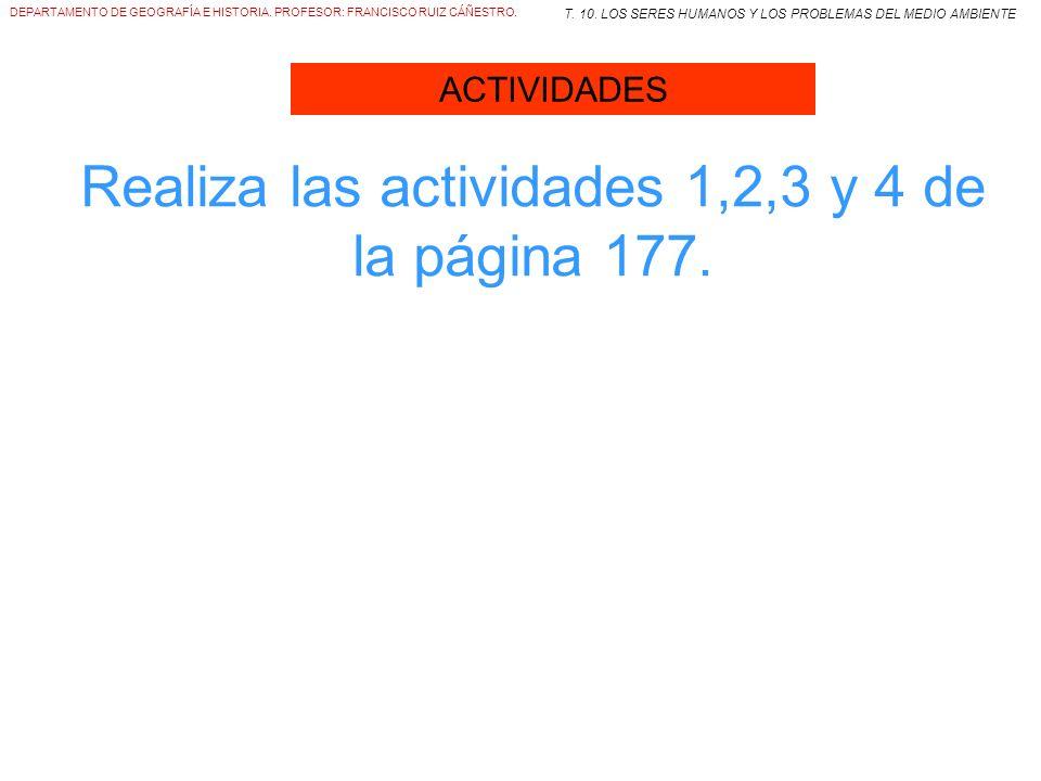Realiza las actividades 1,2,3 y 4 de la página 177.