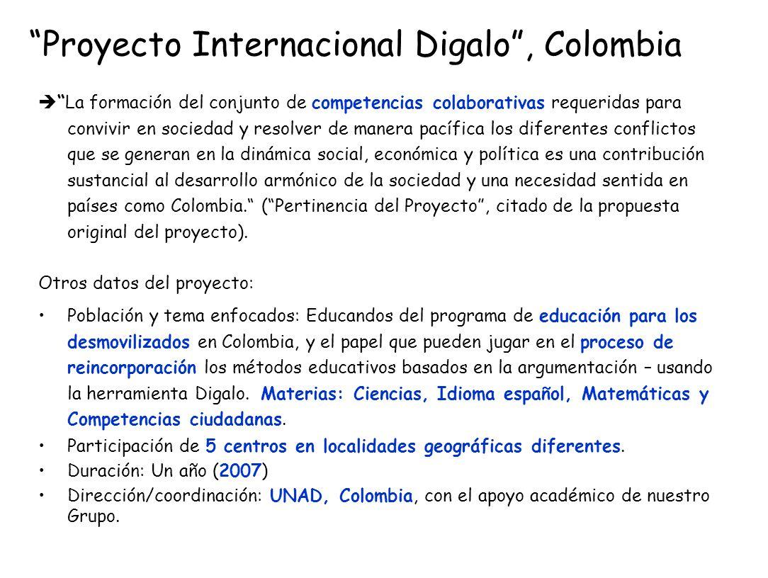 Proyecto Internacional Digalo , Colombia