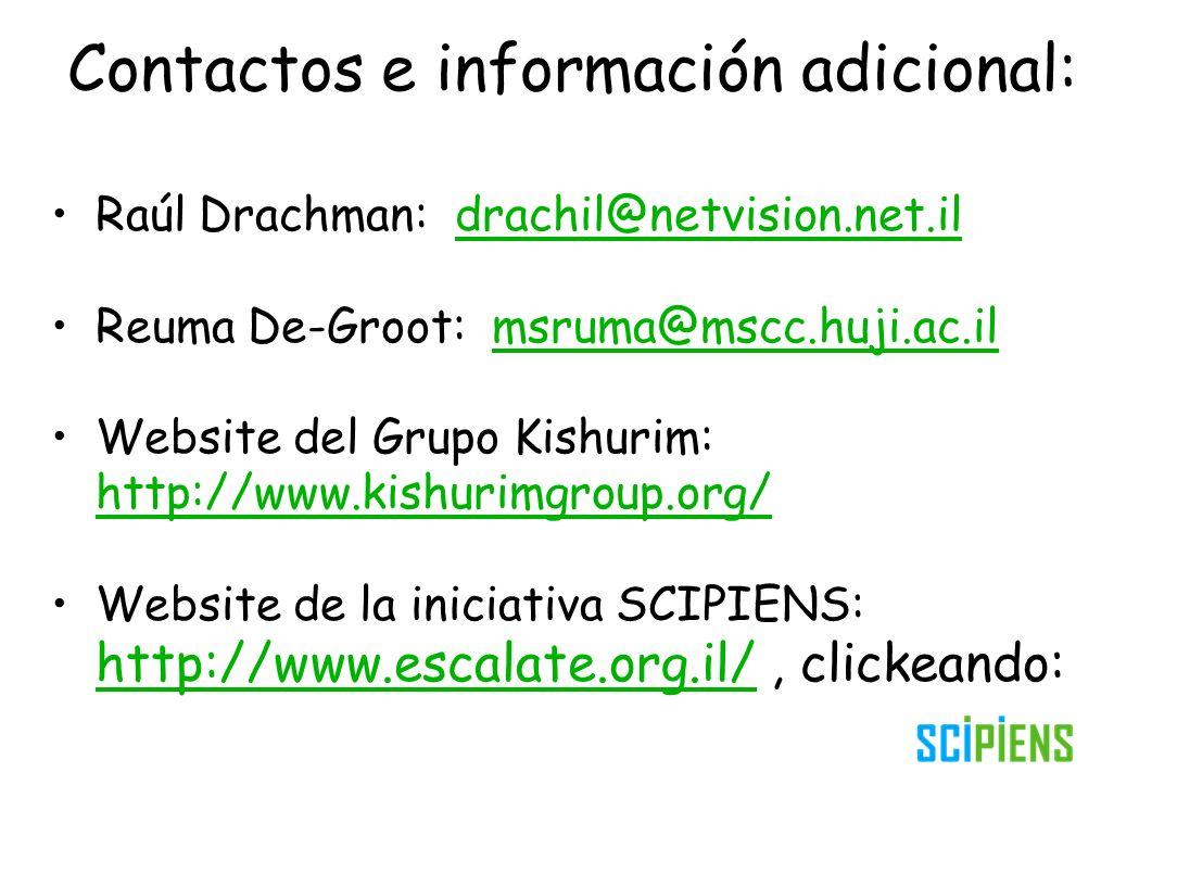 Contactos e información adicional: