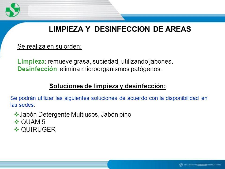 Manual de bioseguridad ppt descargar for Manual de limpieza y desinfeccion en restaurantes