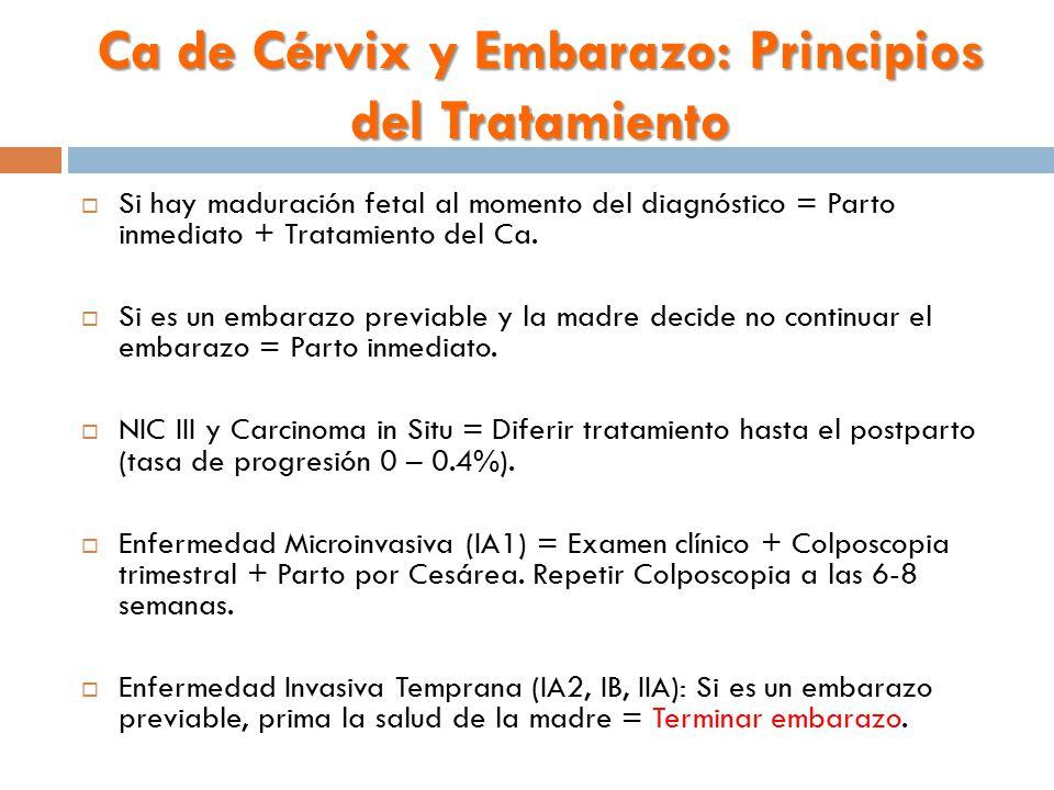 Ca de Cérvix y Embarazo: Principios del Tratamiento
