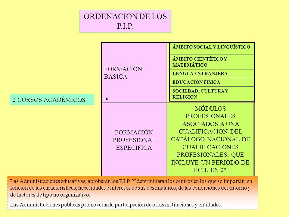 FORMACIÓN PROFESIONAL ESPECÍFICA