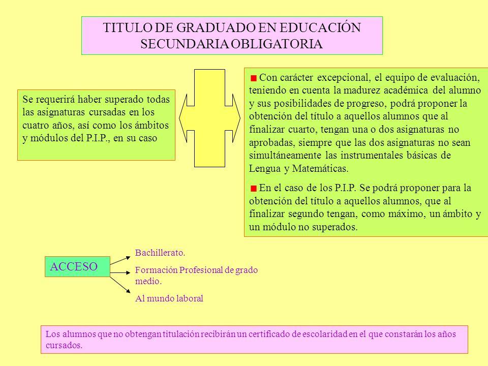 TITULO DE GRADUADO EN EDUCACIÓN SECUNDARIA OBLIGATORIA