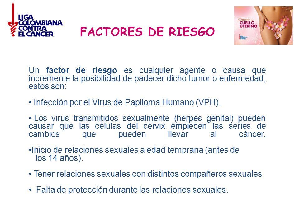 FACTORES DE RIESGO Un factor de riesgo es cualquier agente o causa que incremente la posibilidad de padecer dicho tumor o enfermedad, estos son:
