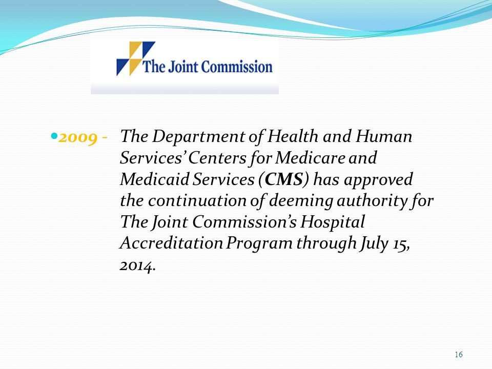 2009 -. The Department of Health and Human