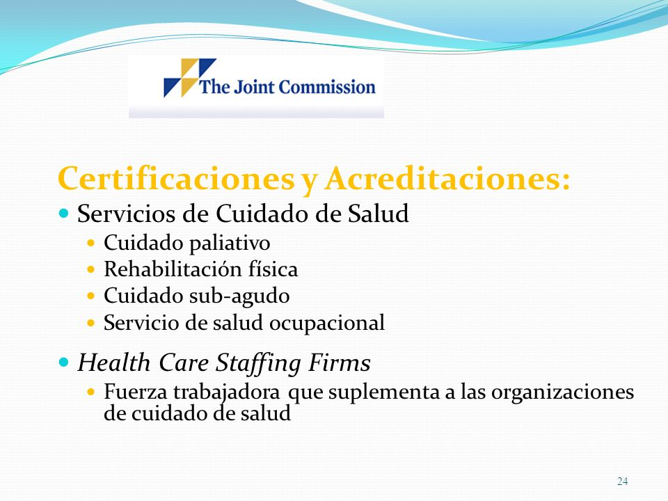 Certificaciones y Acreditaciones: