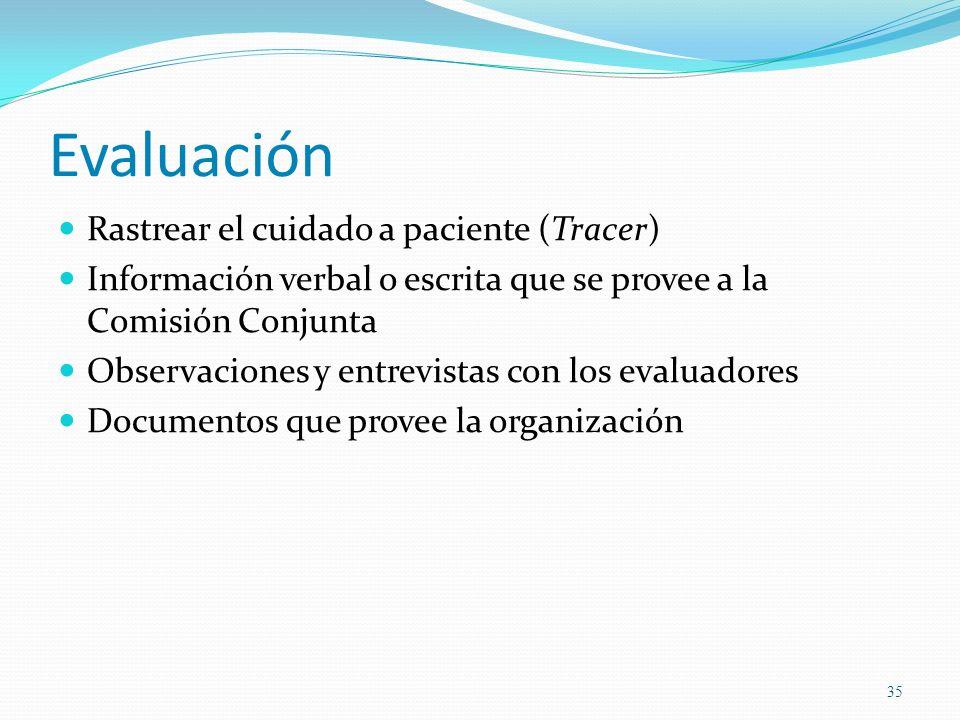 Evaluación Rastrear el cuidado a paciente (Tracer)