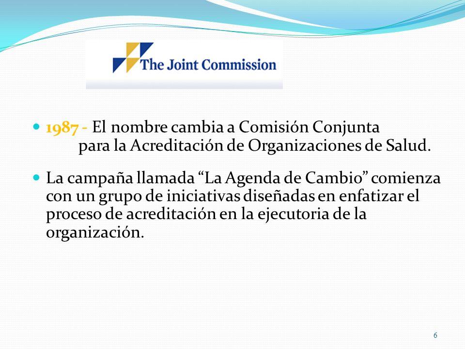 1987 - El nombre cambia a Comisión Conjunta