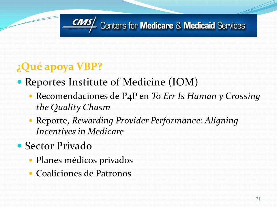 Reportes Institute of Medicine (IOM)