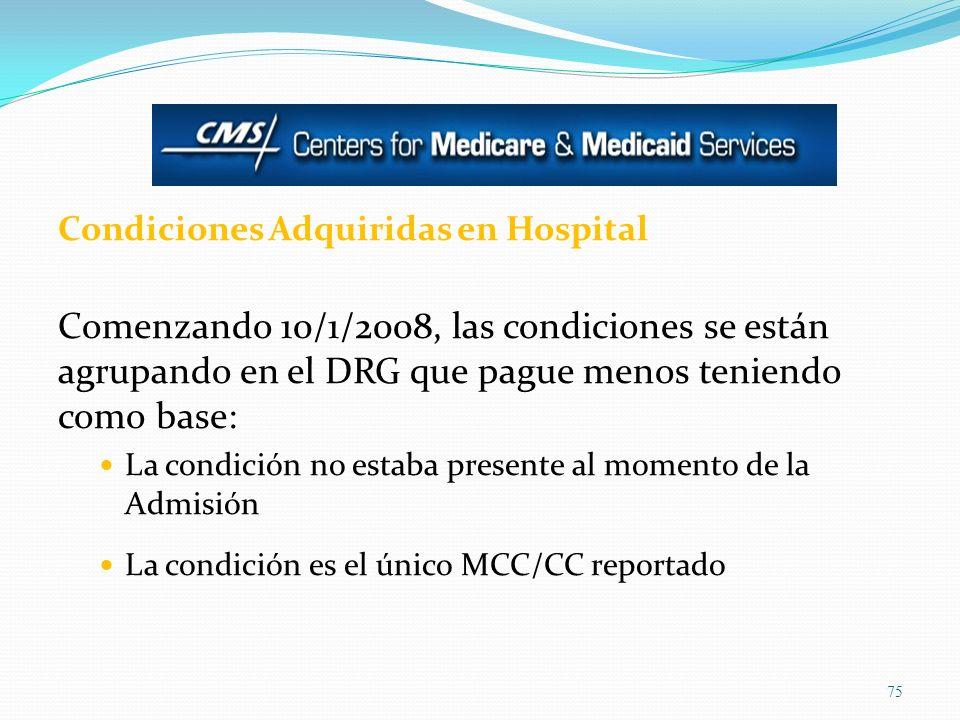 Condiciones Adquiridas en Hospital
