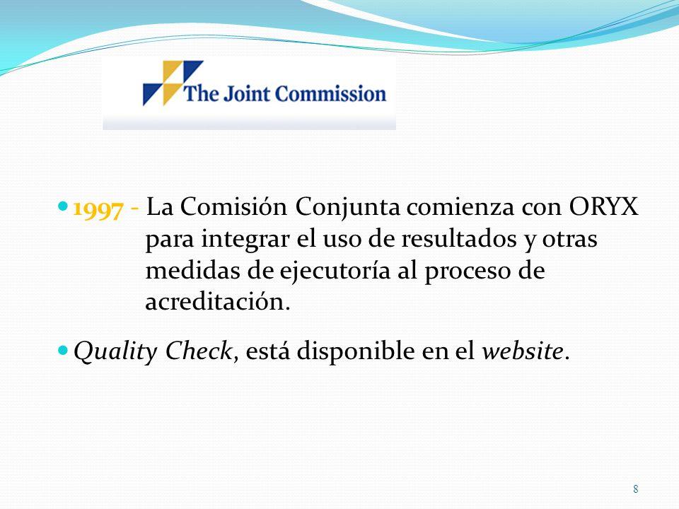 1997 - La Comisión Conjunta comienza con ORYX