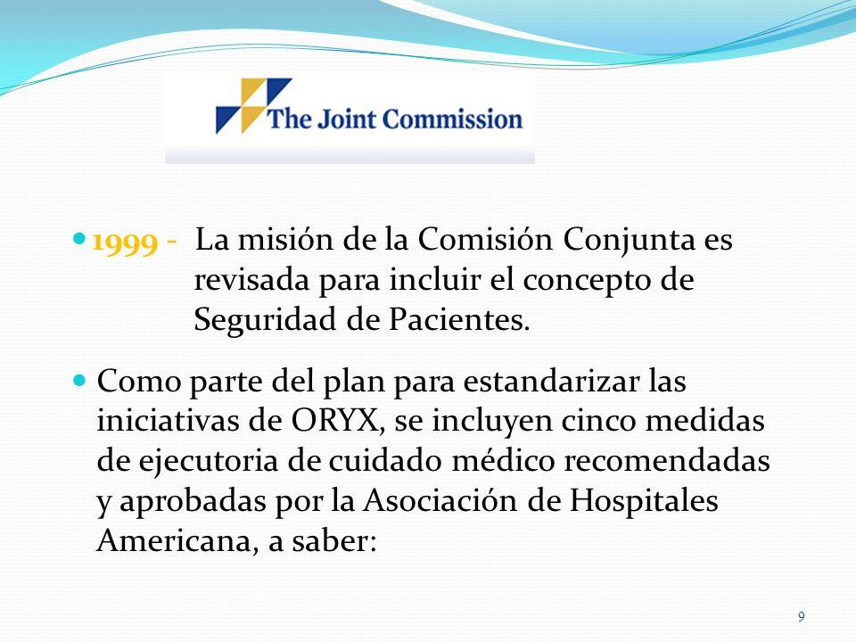 1999 - La misión de la Comisión Conjunta es