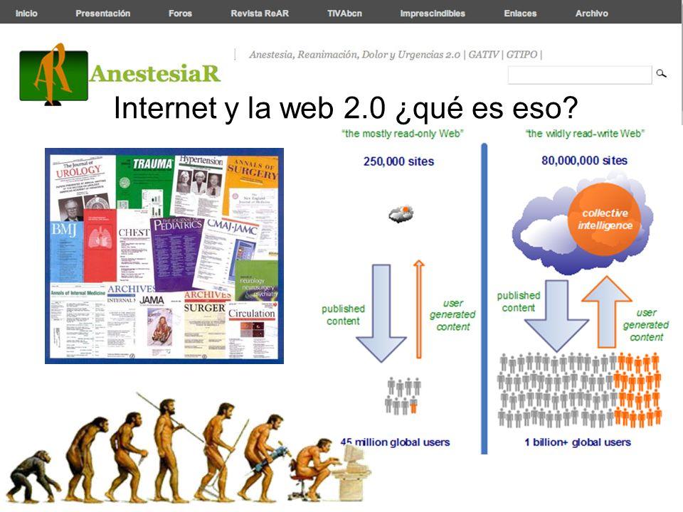 Internet y la web 2.0 ¿qué es eso