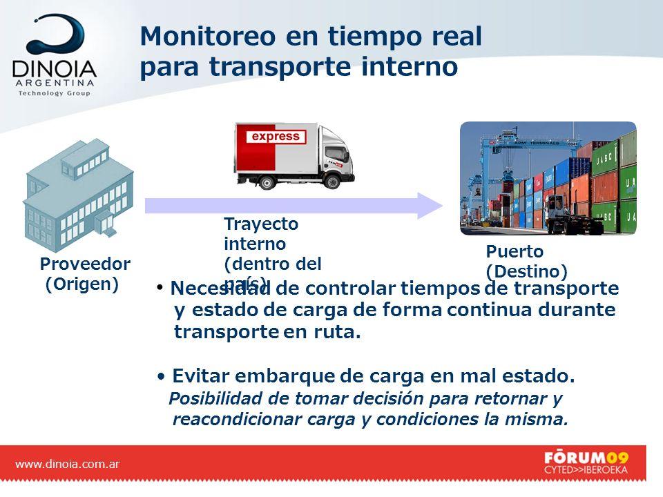 Monitoreo en tiempo real para transporte interno
