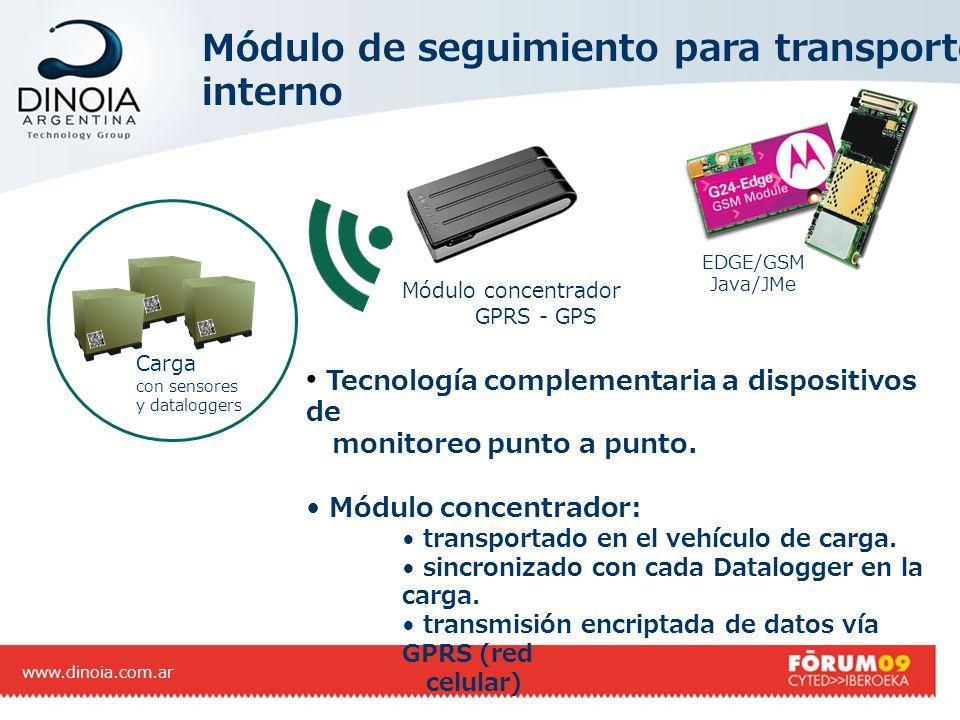 Módulo de seguimiento para transporte interno