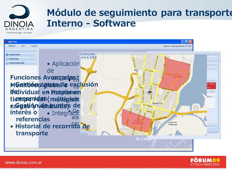 Módulo de seguimiento para transporte Interno - Software