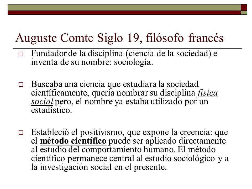 Auguste Comte Siglo 19, filósofo francés