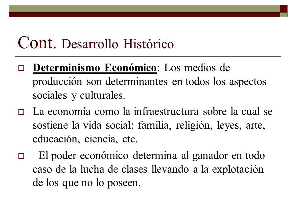 Cont. Desarrollo Histórico